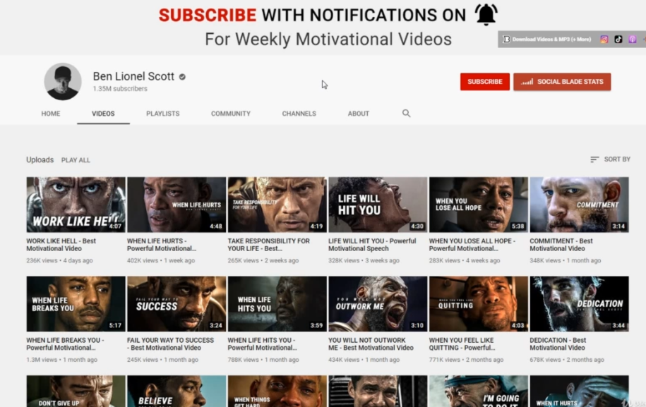 BEN LIONEL SCOTT - How to start a YouTube channel successful without showing Your Face