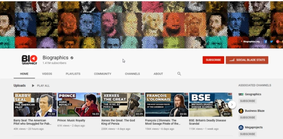 Biographics- How to start a YouTube channel successful without showing Your Face