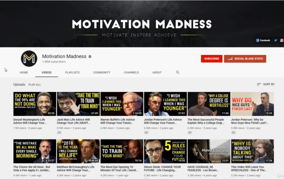 MOTIVATION MADNESS How to start a YouTube channel successful without showing Your Face