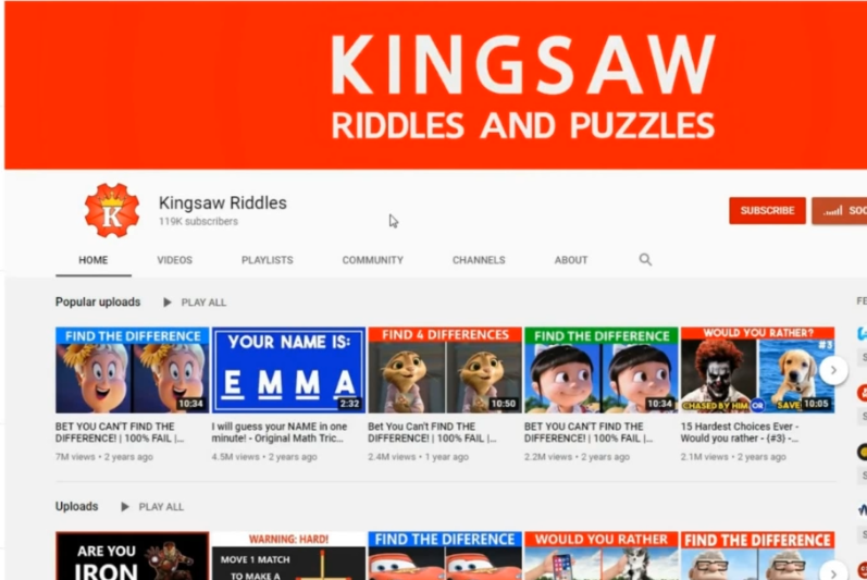 Photo of Kingsaw quiz channel