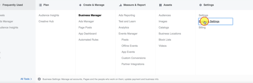 BUSINESS SETTINGS IN BUSINESS MANAGER- Facebook Ads Marketing Blueprint Certification