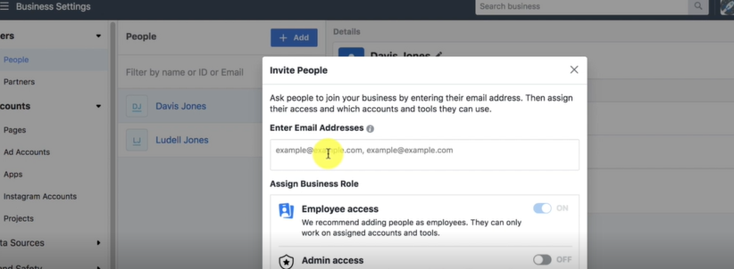 ADD a PERSON- Facebook business for Facebook Ads Marketing