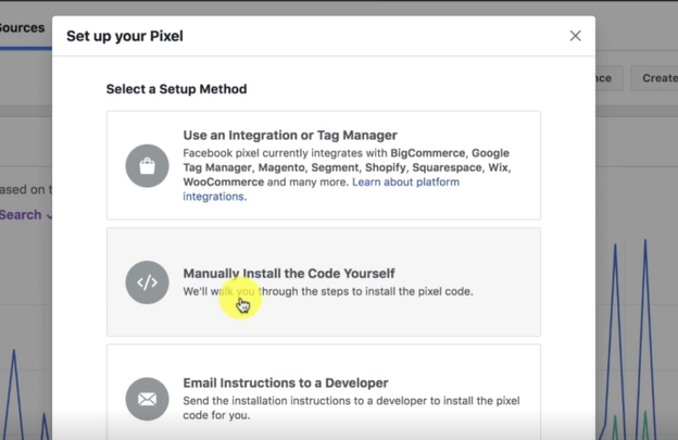 MANUALLY INSTALL THE CODE: FACEBOOK ADS MARKETING