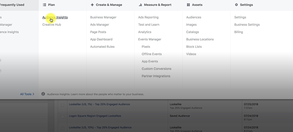 AUDIENCE INSIGHT PHOTO IN FACEBOOK BUSINESS MANAGER: FACEBOOK ADS MARKETING