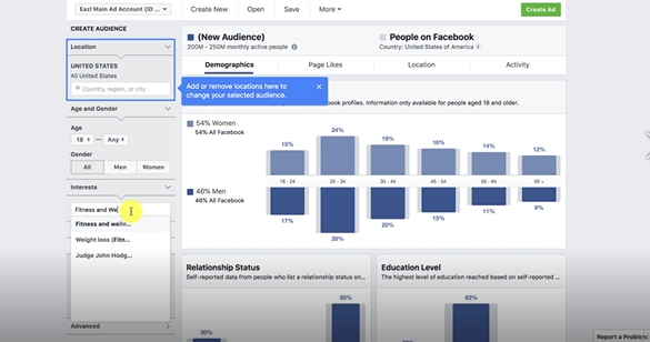 TYPE AND SEARCH THE AUDIENCE: FACEBOOK ADS MARKETING