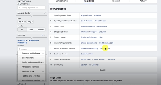 AFFINITY SCORE PHOTO OF THE INTEREST IN FACEBOOK AUDIENCE INSIGHT: FACEBOOK ADS MARKETING