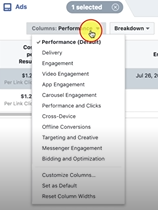 Photo of Customize Column Section