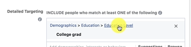 PHOTO OF SELECTING COLLEGE GRAD IN DEMOGRAPHIUCS SECTION