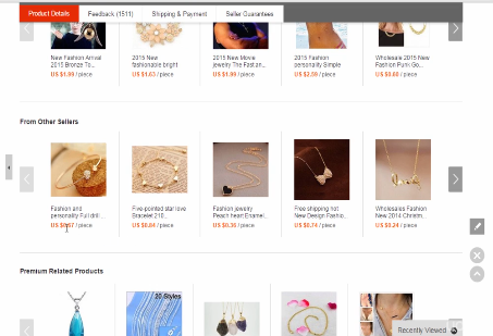 PHOTO OF PENDANT PRODUCT IN ALIEXPRESS