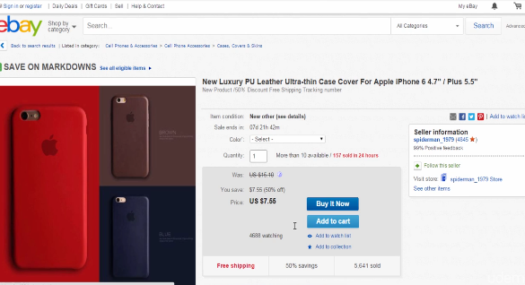 PHOTO OF EBAY SAME PRODUCT WITH HIGH PRICE