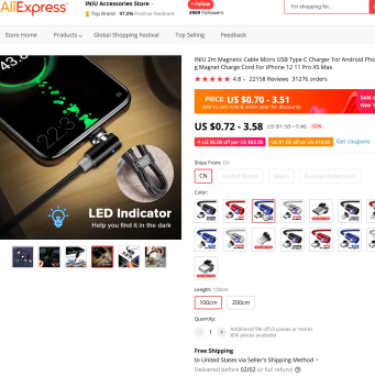 PHOTO OF MAGNETIC CHARGER: IS DROPSHIPPING STILL PROFITABLE
