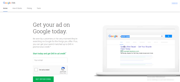 PHOTO OF GOOGLE ADS PREVIEW SECTION FROM THE SCREEN ON THE RHS OF THE GOOGLE ADS PAGE