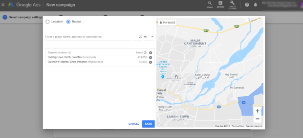 PHOTO OF EXCLUDING CURRENT CITY IN ADVANCED SEARCH IN GOOGLE ADS TARGETING