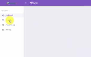 PHOTO OF AFFILIATE DASHBOARD SECTION OF ROCKETR