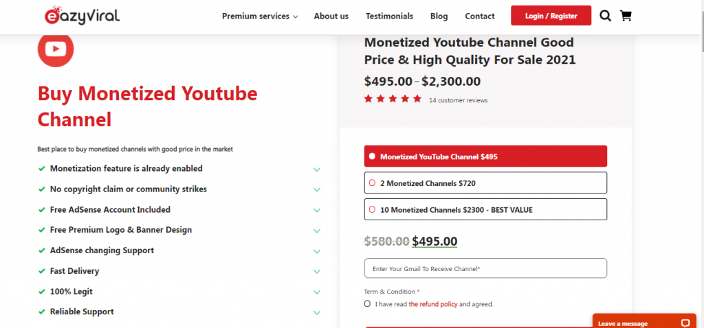 HOW TO BUY MONETIZED YOUTUBE CHANNEL: BEST PLACE OR SITES TO BUY MONETIZED YOUTUBE CHANNEL- EAZYVIRAL