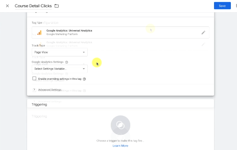 ANALYTICS EVENT TRACKING: PHOTO OF CREATING A NEW TAG FOR EVENT