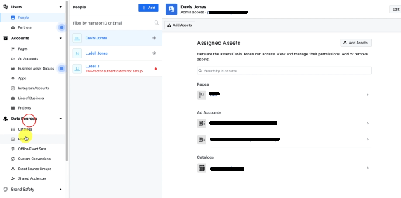 PHOTO OF SELECTING PIXEL IN FACEBOOK BUSINESS MANAGER
