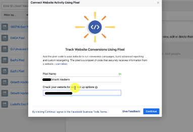 PHOTO FO CREATING A NEW PIXEL IN FACEBOOK BUSINESS MANAGER