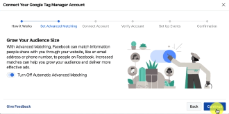 PHOTO OF CONNECTINGG GOOGLE TAG MANAGER WITH FACEBOOK BUSINESS MANAGER
