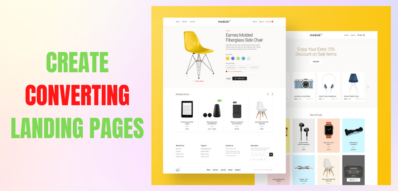 Design Product Pages For Website Woocomerce, Design Product Page for Facebook